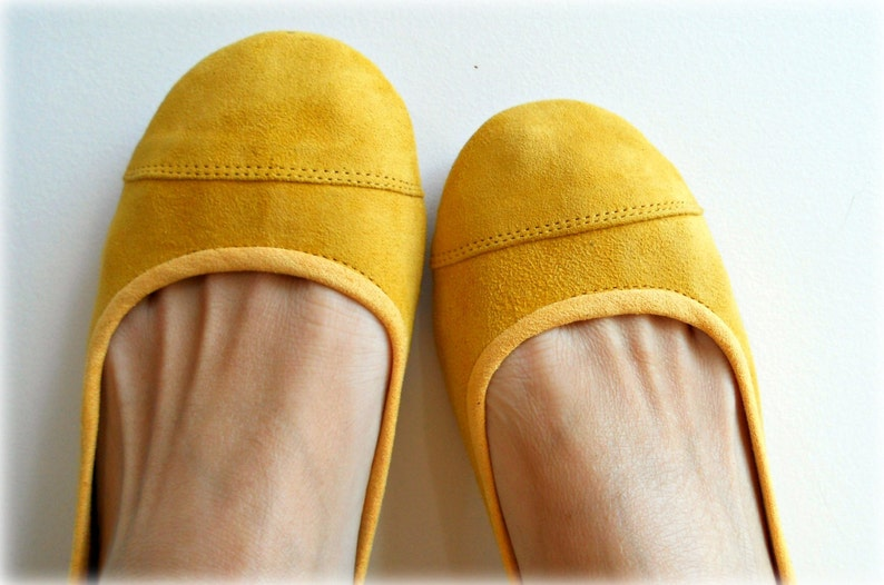 9b94021aaa8fa LUNAR. Lemon Zest flats / women shoes / suede flat shoes / women flats /  Yellow ballet flats. Available in different colours