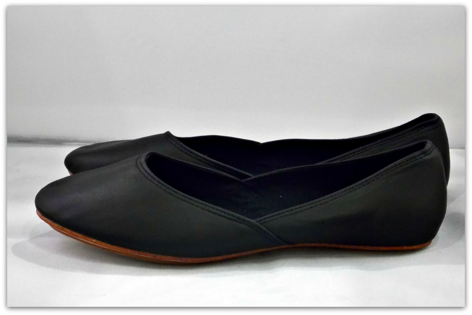 maya. black leather ballet flats/ women's shoes/ bridal flats. available in different colours & sizes