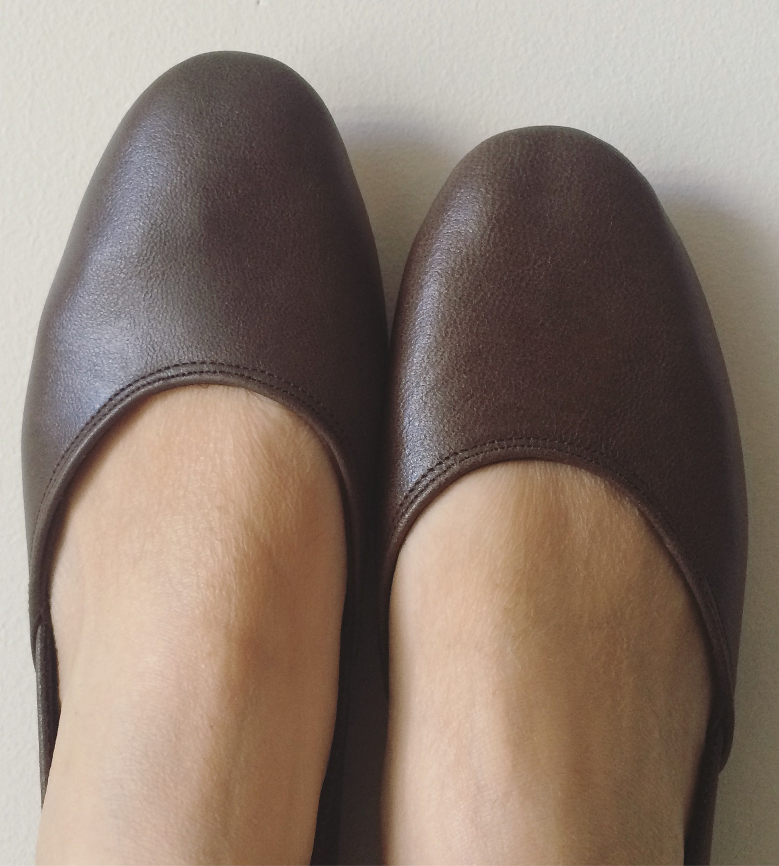 maya. aged brown leather ballet flats/ women's leather shoes/ brown flats. available in different colours & sizes