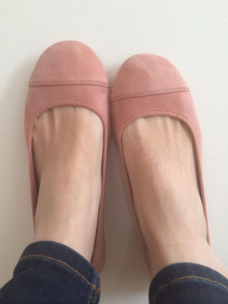 583b8c8708415 LUNAR. Blush flats / women shoes / suede flat shoes / women flats / Blush  pink leather flats. Available in different colours