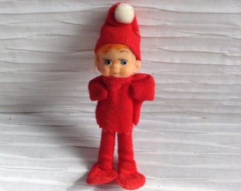 Vintage Pixie Elf. Christmas decorations.  Xmas Elf.  Made in Japan.