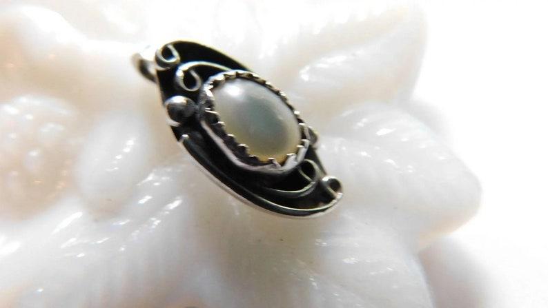 Sterling Silver Native American Pendant Slide Luminous Moonstone Southwest