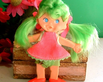 "1969 Retro "" SUMMER TIME Sisters "" Younger Sister FLATSY Doll Original Outfit - 49 Years Old"