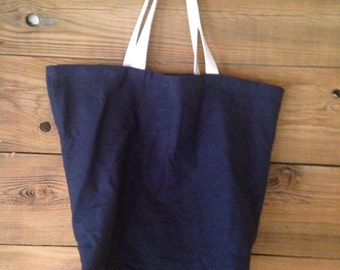 Shopping Bag, canvas tote, canvas grocery bag, mens reusable bag - MORE COLORS AVAILABLE