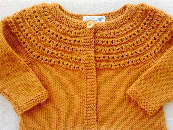 Child Wool Cardigan Sweater Girl Sweater Size 2 Mustard Etsy