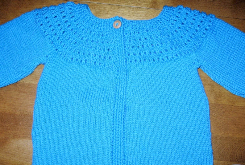 0190f8601 Girl Sweater Size 10 Girl Cardigan Size 12 Blue Knit