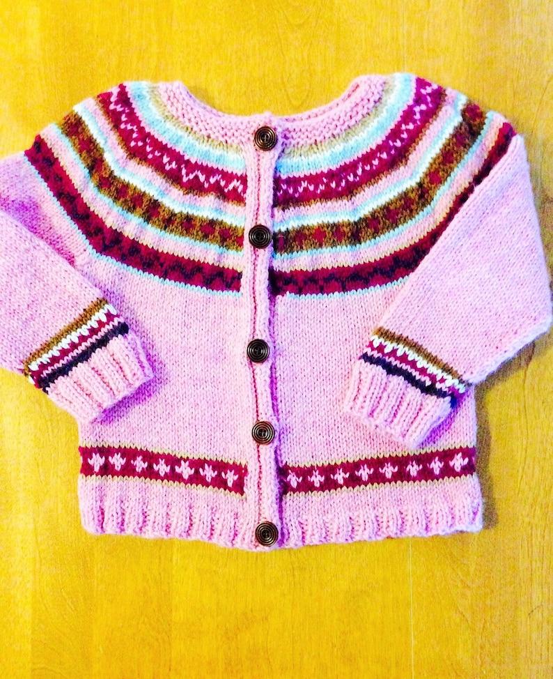 Fair Isle Sweater Sweater Size 5 Fair Isle  Sweater Size 8 image 0
