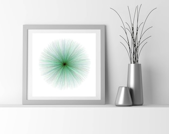 Neuro Science inspired fine art print, by San Francisco generative artist Kristin Henry. fuzzies_9z