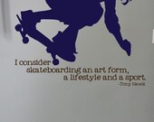 Items Similar To Skateboard Decal With Tony Hawk Quote