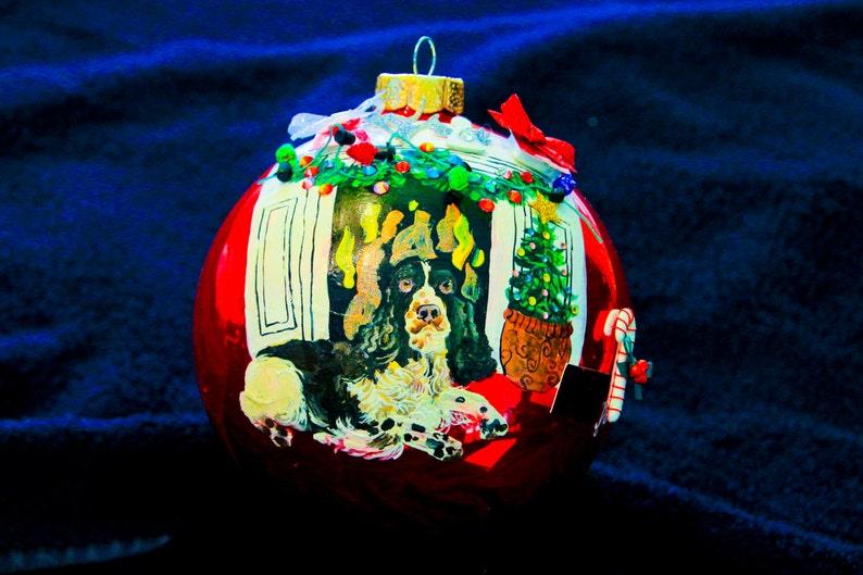 Hand Painted Ornament-Springer Spaniel W3D Effect-Item 942