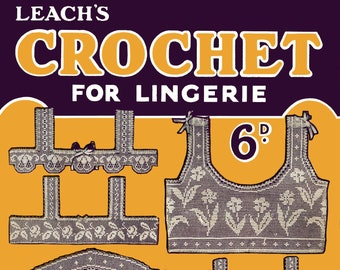 Ladies Gown Yokes in Filet crochet PDF - EBook - Digital Download Collingbourne/'s #9 c.1910 Cluny Crochet /& Tatting