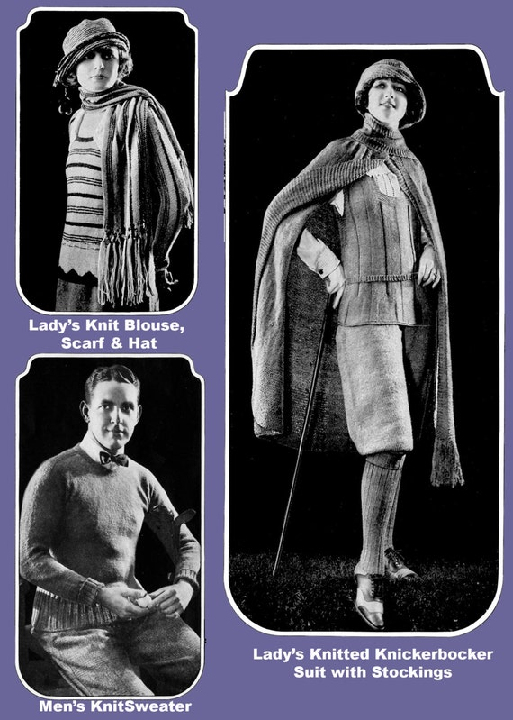 Minerva Knitting Book #18 c.1923 Including Helpful Bonus Pages PDF - EBook - Digital Download