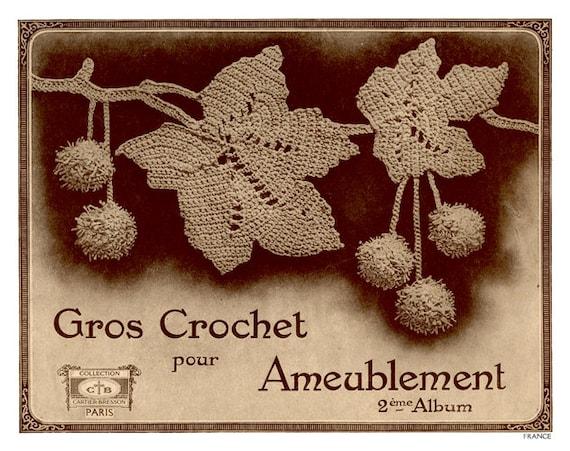 Fabuloso Vintage Crochet patrones en francés Gros Crochet