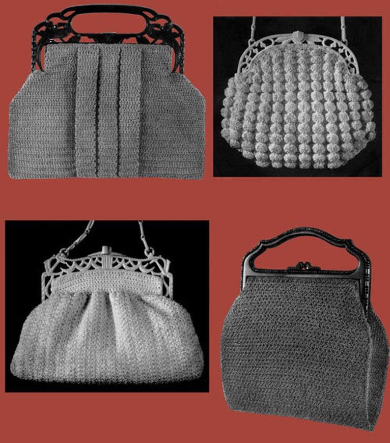 Bags /& Belts Crochet Patterns for Women/'s Fancy Hats Raphael Brand #4 c.1939
