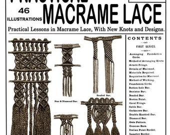Weldons 2D (7) c.1885 Practical Victorian Macrame Lace - First of Five Books