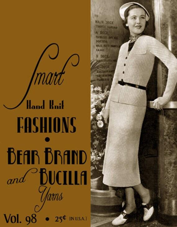 Columbia Yarn #85 c.1937 Vintage Knitting and Book of Yarn Fashions