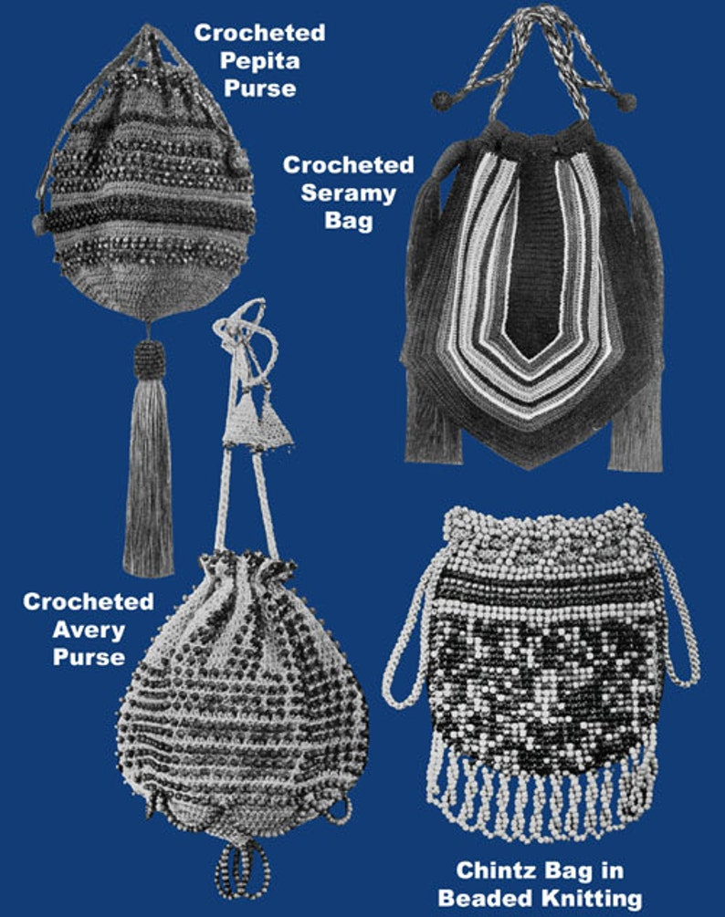 1920s Handbags, Purses, and Shopping Bag Styles Heminway Bags #47 c.1920 - VIntage Patterns to Make Crochet Purses and Bags (PDF Ebook DIgital DOwnload) $3.57 AT vintagedancer.com