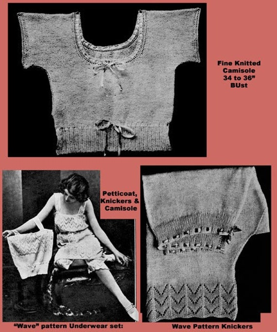 Bestway #92 c.1920 Classic Knitting Patterns for Women/'s Flapper era Lingerie