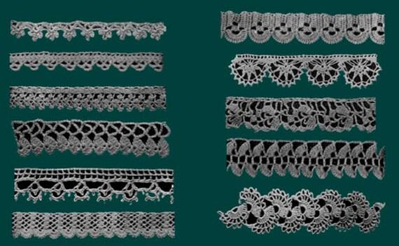 Priscilla Crochet Edgings /& Insertions #1 c.1915 Excellent Pattern Book