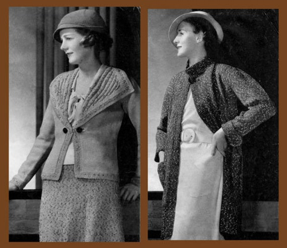 Monarch #33 c.1934 Vintage Fashion Knitting Patterns Depression Era Instructions