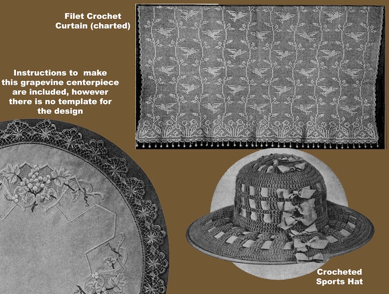 Armenian Needlepoint Lace Tattting /& Knitting PDF Ebook Digital Download Star #4.2 c.1919 Filet Crochet