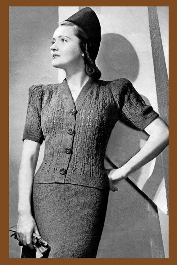 #108 1940/'S LADY EVE EVENING DRESS PATTERN