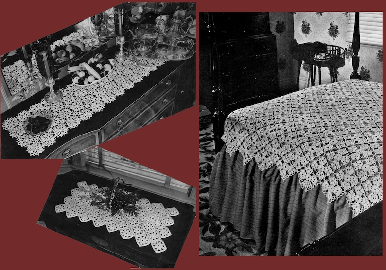 Doilies and Table Decor Decorative Crochet for Your Home Hiawatha #14 c.1945 PDF - EBook  Digital Download