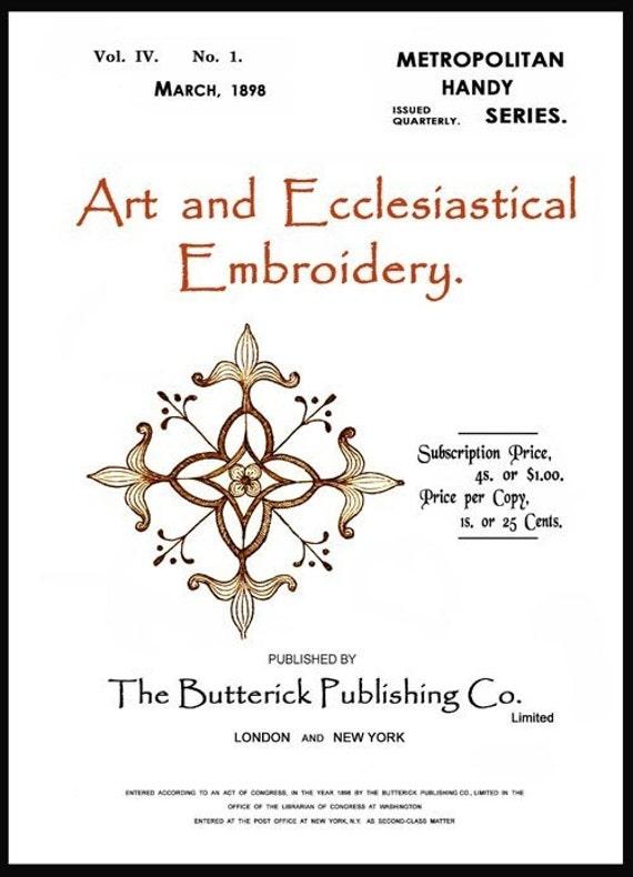 Arte de Butterick y bordado eclesiástico c.1898 raro diseño | Etsy