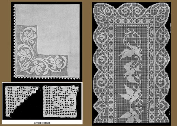 The New Filet Crochet Book of Charted Patterns Cora Kirchmaier #4 c.1915