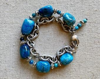 Ocean Blue Apatite Bracelet