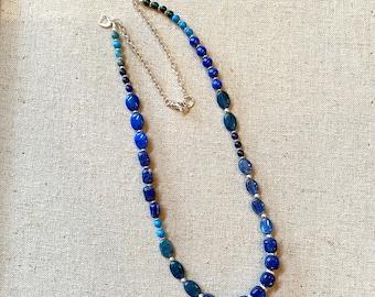 Lapis blues on blues necklace