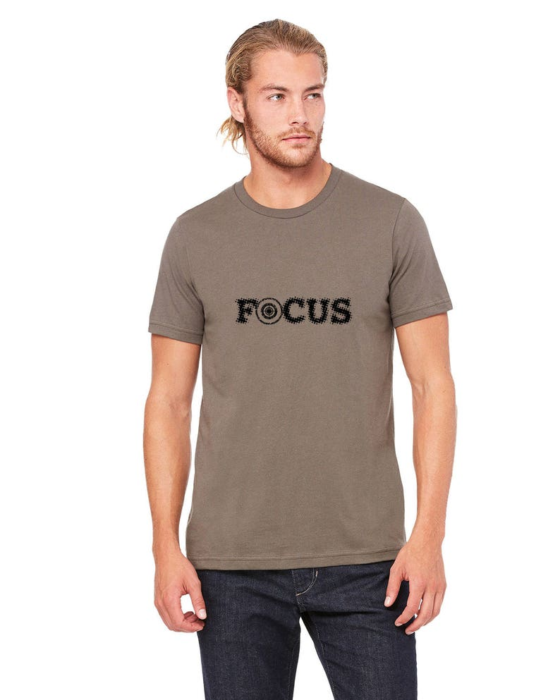8413dc3147b Unisex Target Tshirt with the word FOCUS Archery Shirts For