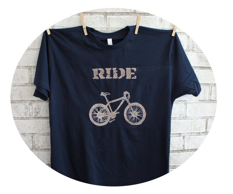 Mountain Bike T Shirt Men S Cotton Crewneck Top Graphic Etsy