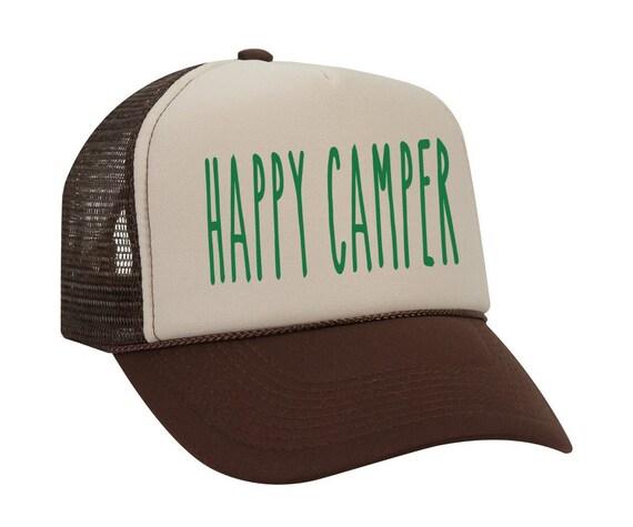 Happy Camper Hat Camping Baseball Hat Summer Camp Baseball  b5d3bc8891d