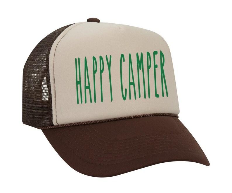 f1a8f47cbde0e Happy Camper Hat Camping Baseball Hat Summer Camp Baseball