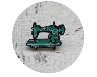 Sewing Machine Lapel Pin, Mint Green Vintage Modern Sewing Machine Soft Enamel Pin, Tiny Pin, Collectable Machine, Retro Sewing Machine