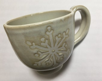 Snow Flake Tea Cup