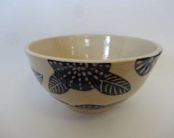 Free Shipping - Blue Flowers Breakfast Bowl