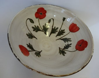 Poppies Deep Serving Bowl