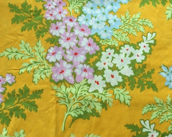 Heather Bailey Nicey Jane, Picnic Bouquet, tangerine, large repeat  floral fabric by the half yard, yardage available