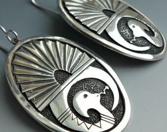 Egyptian Snake Sterling Earrings
