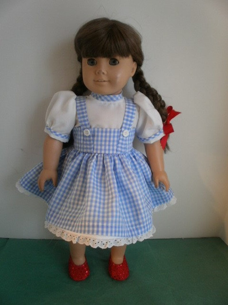Light Blue Eyelet Dress made for 18 inch American Girl Doll Clothes