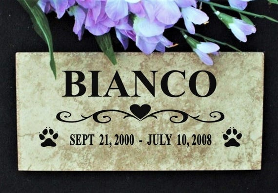 Pet memorial 12x6 Italian porcelain stone tile- Maintenance free