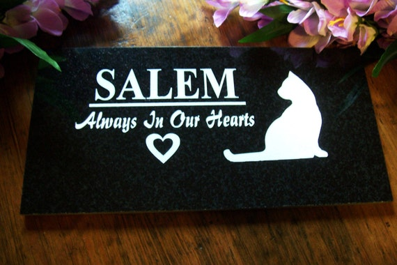 12x6 Black Granite Plaqueswith Permanent White Engraving