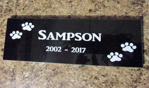 12x4 Pet Memorial- Black Granite
