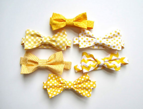 Mens Bow Ties Mix and Match Yellow Bow Ties Groomsmen Ties   Etsy