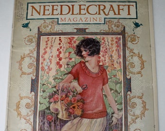 Do it yourself art etsy vintage needlecraft magazine june 1926 arts crafts do it yourself art deco crochet sewing home decor ideas illustrated craft magazine solutioingenieria Choice Image
