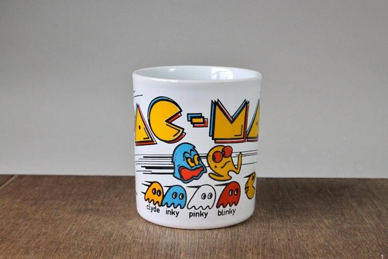 1980s Vintage PAC-MAN Coffee Mug Cup Video Game Midway Arcade England Ceramic