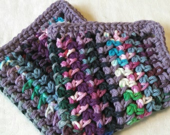 Purple Stripes Washcloth