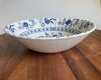 """J & G Meakin Set Blue Nordic - 8"""" Serving Bowl -Vegetable Bowl - England Ironstone"""